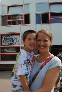 Katie and Elijah at JFK School Berlin